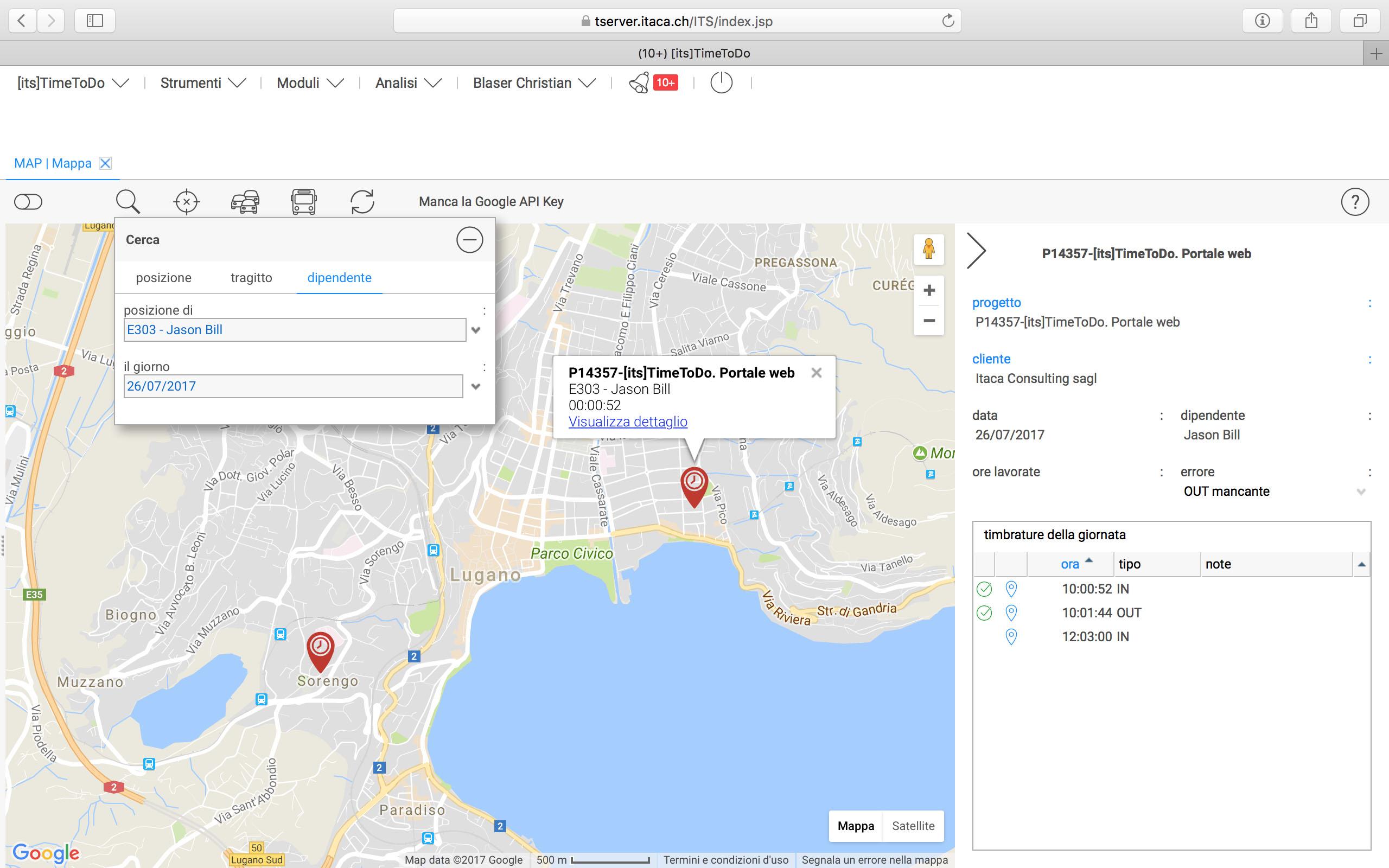 integrato con google map